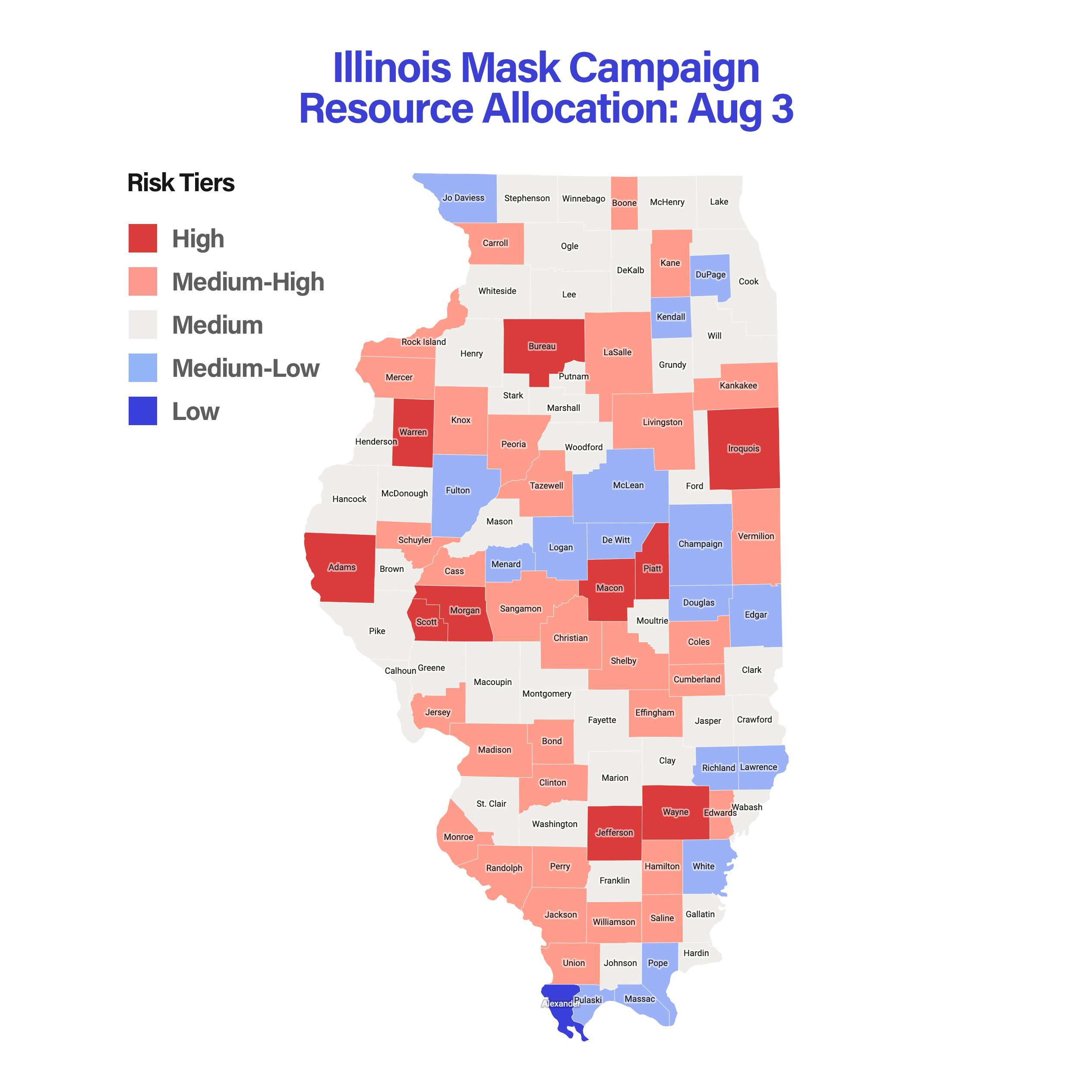Illinois Mask Campaign Resource Allocation: Aug 3