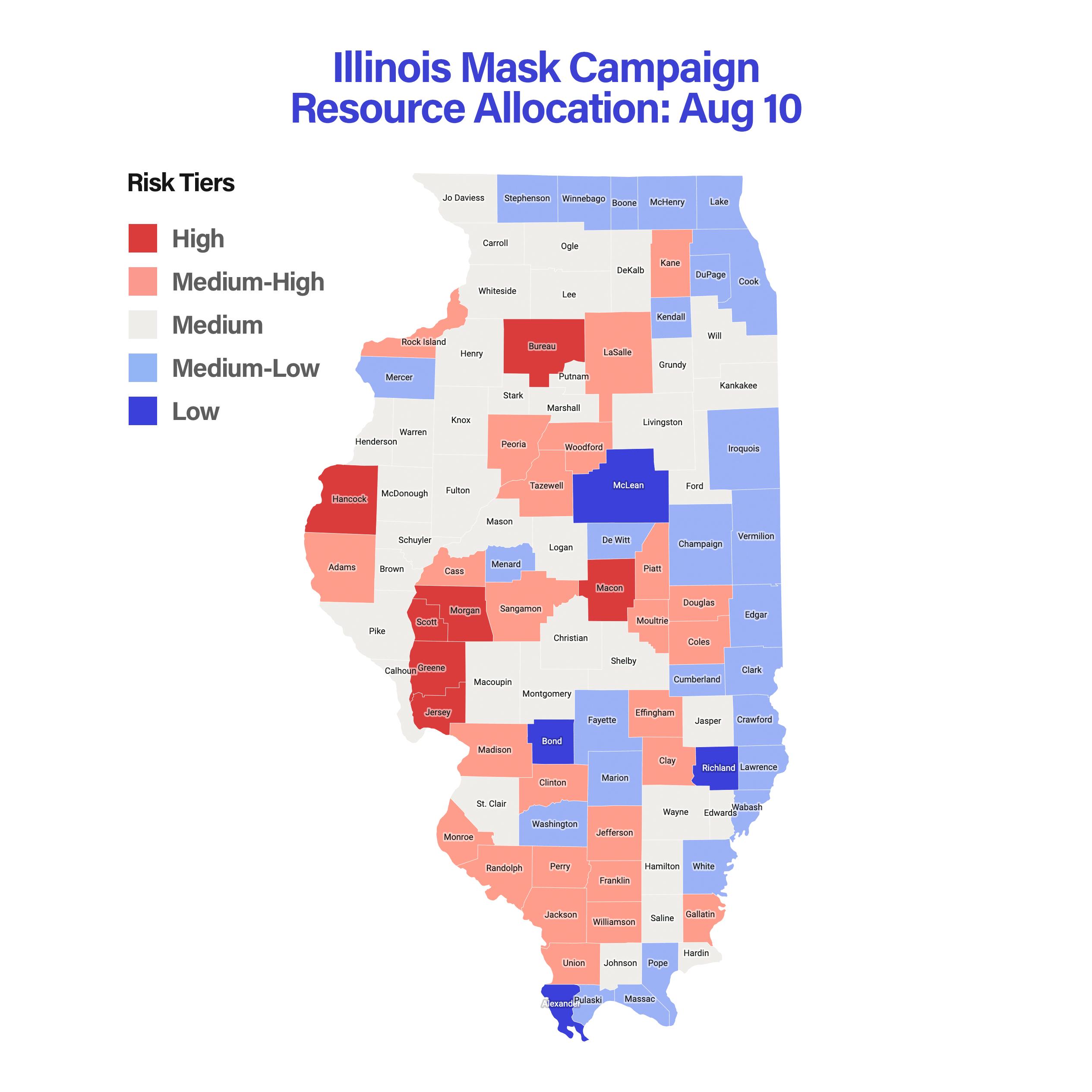 Illinois Mask Campaign Resource Allocation: Aug 10