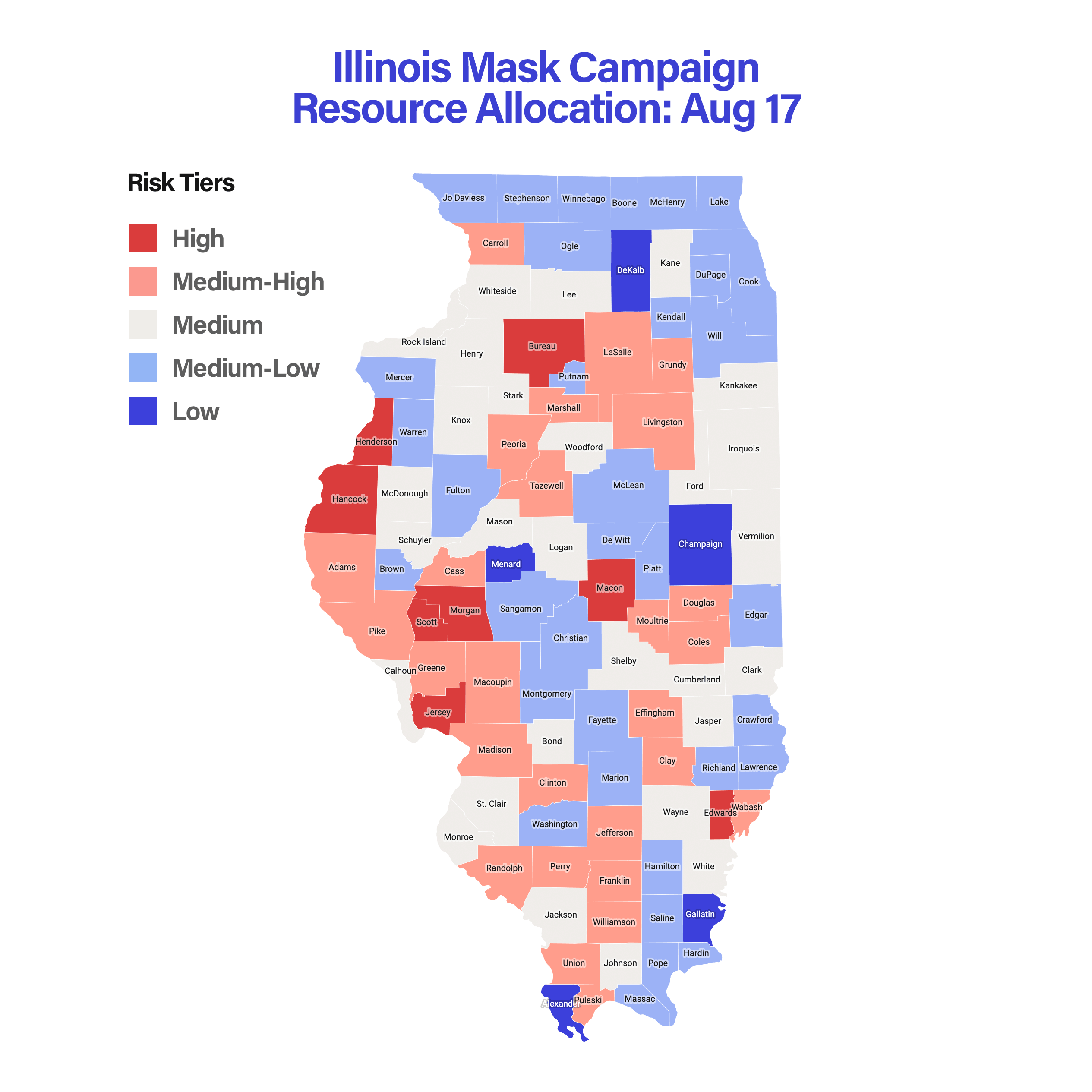 Illinois Mask Campaign Resource Allocation: Aug 17