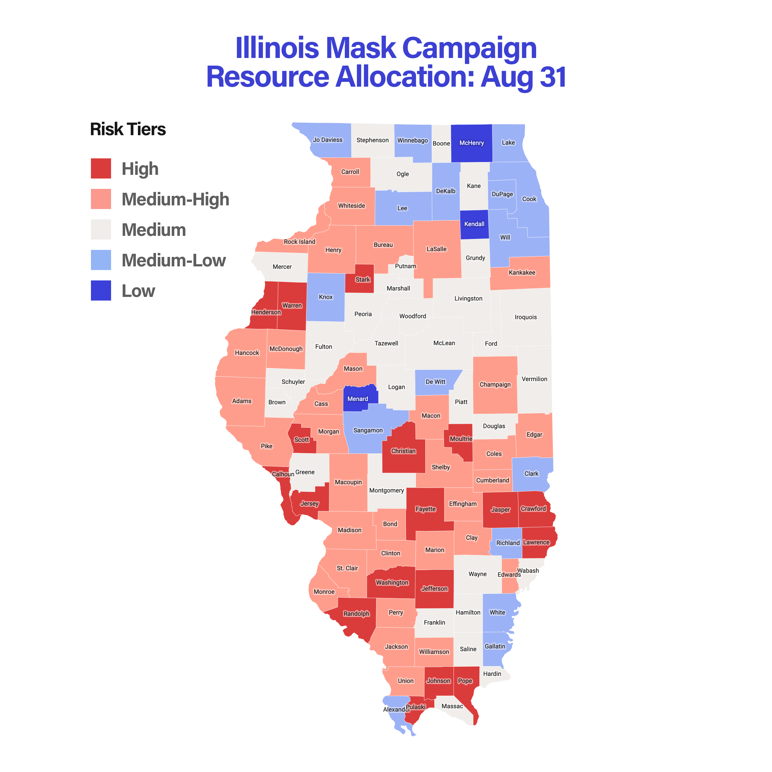 Illinois Mask Campaign Resource Allocation: Aug 31