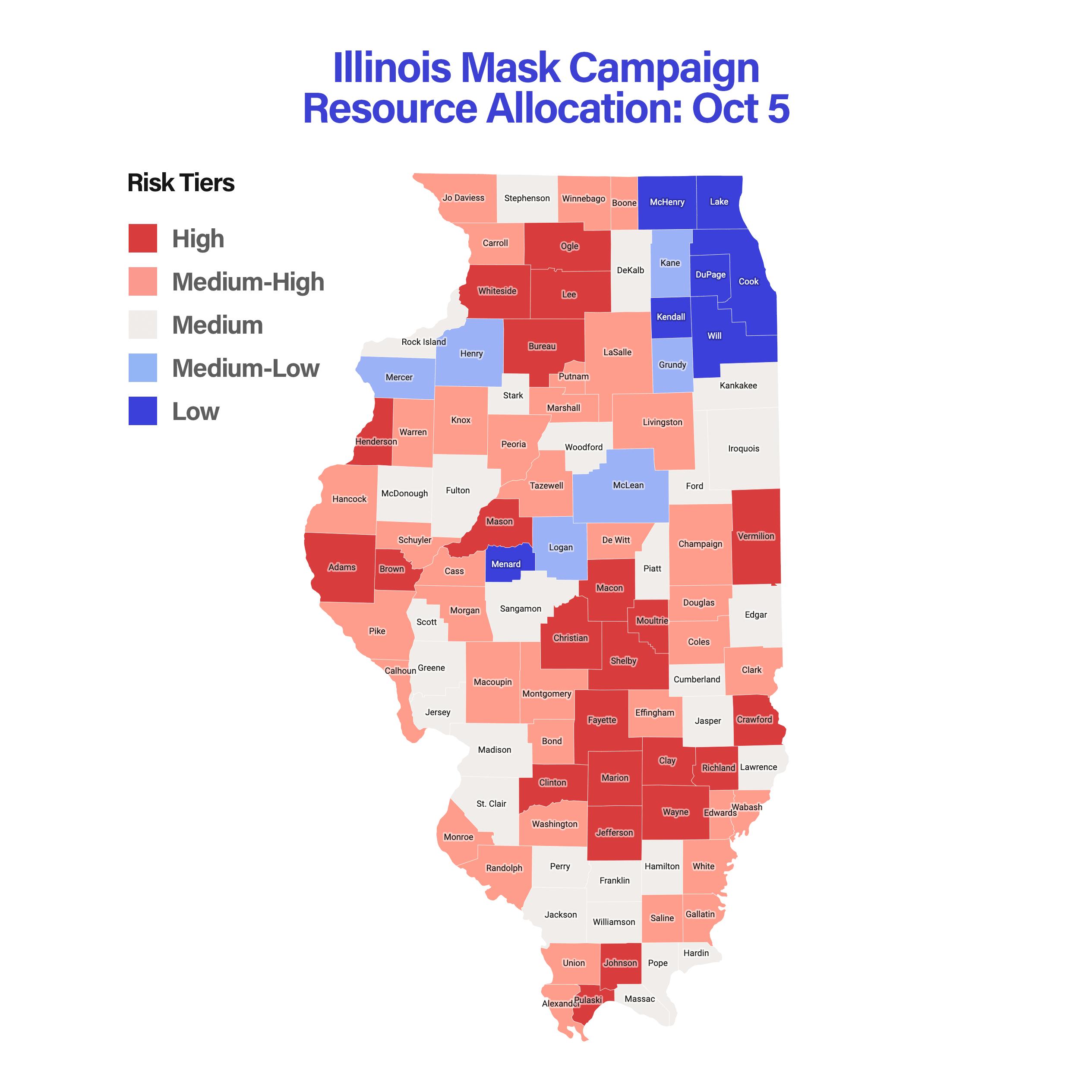 Illinois Mask Campaign Resource Allocation: Oct 5