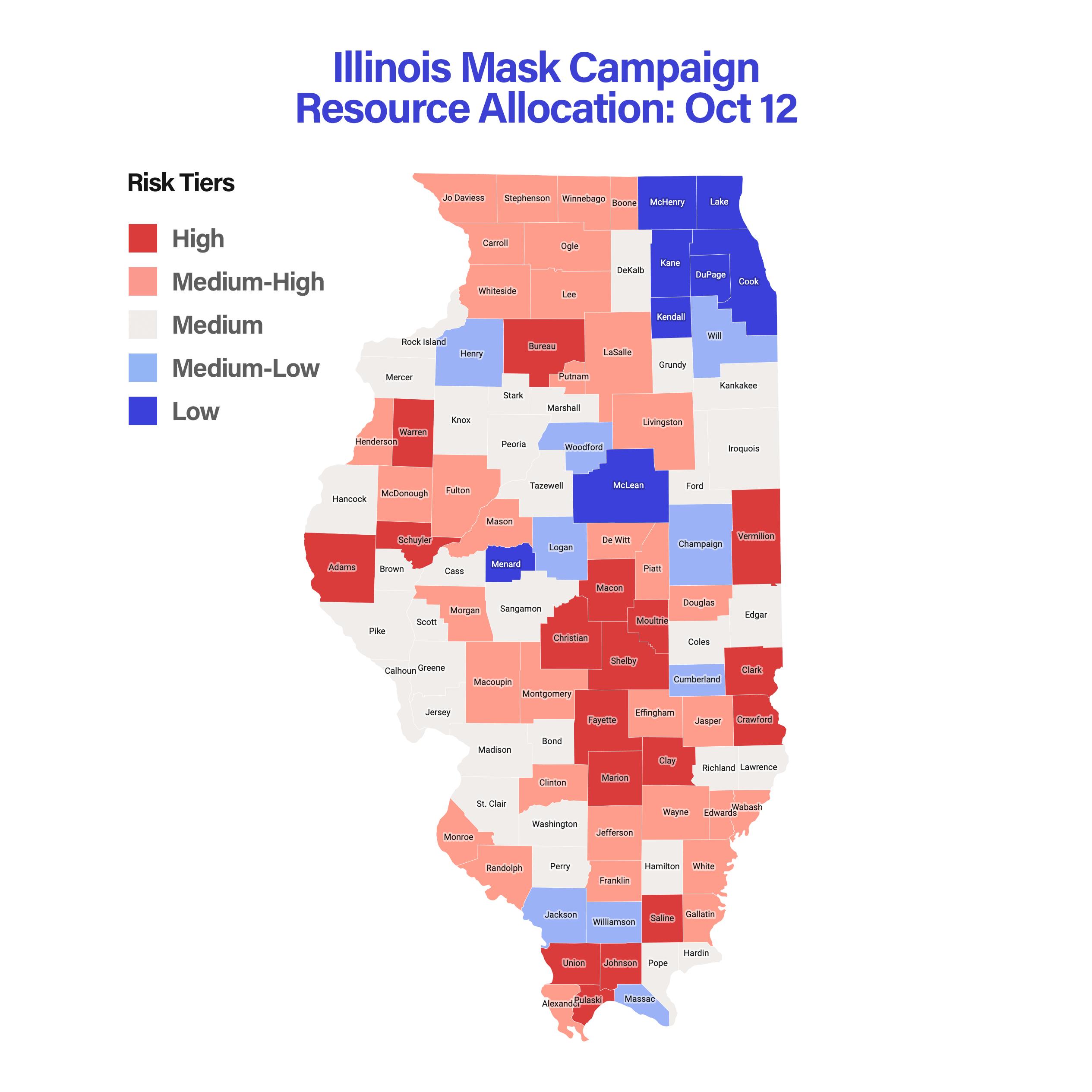 Illinois Mask Campaign Resource Allocation: Oct 12
