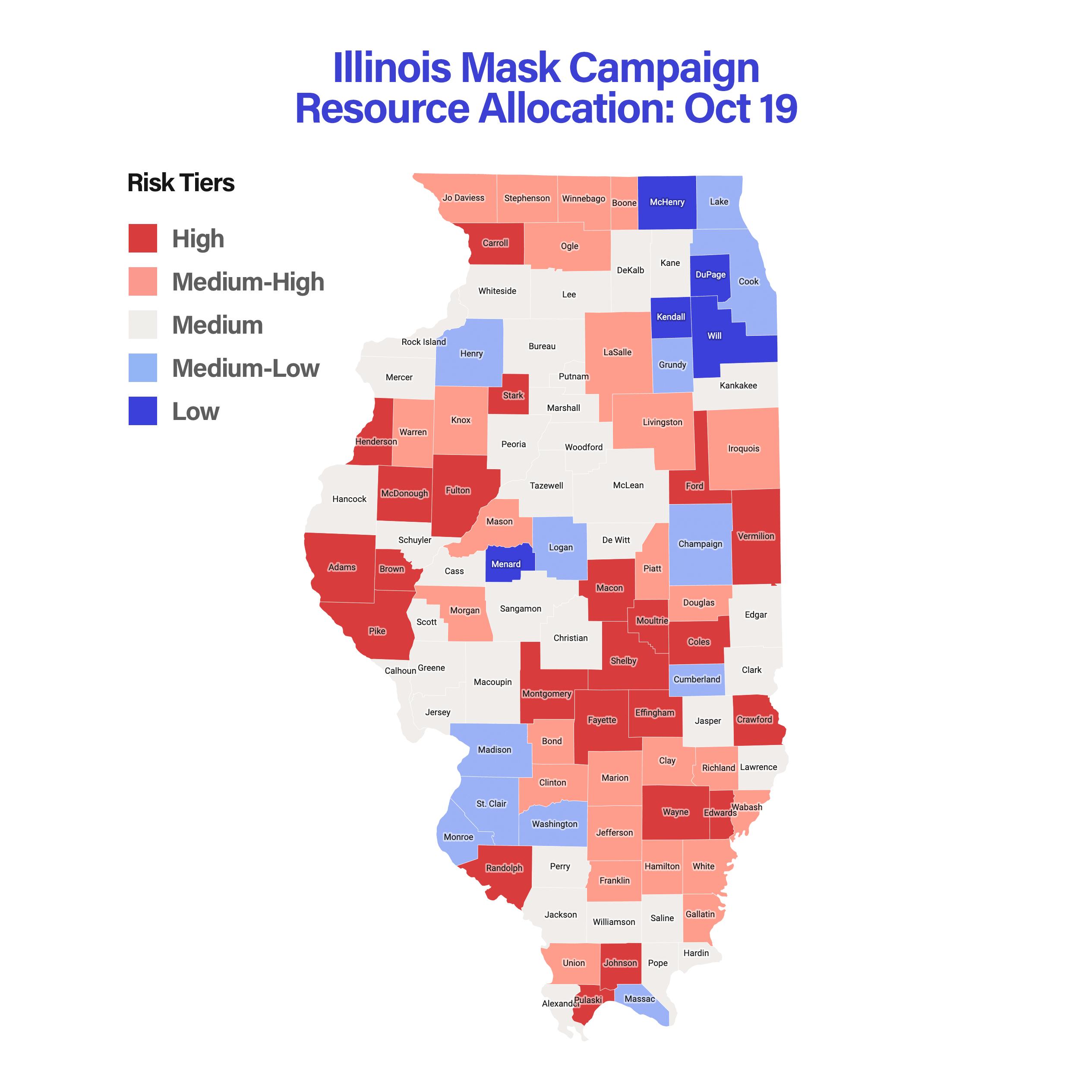 Illinois Mask Campaign Resource Allocation: Oct 19